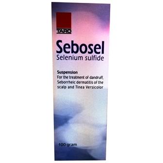 Sebosel selenium sulfide 2.5% suspension for dandruff seborrheic of scalp&tinea