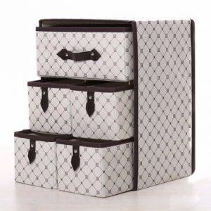 THREE LAYER STORAGE BOX FIVE DRAWER NON-WOVEN