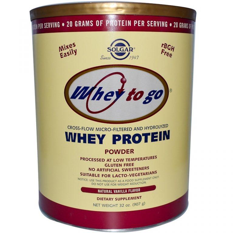 Solgar, Whey To Go, Whey Protein Powder, Natural Vanilla Flavor, 32 oz (907 g)