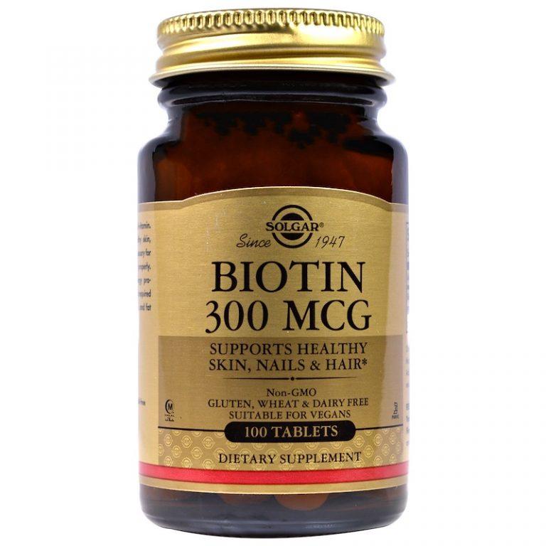 Solgar, Biotin, 300 mcg, 100 Tablets