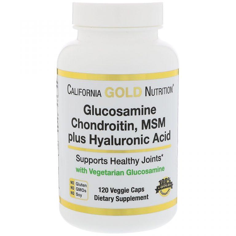 California Gold Nutrition, Vegetarian Glucosamine, Chondroitin, MSM Plus Hyaluronic Acid, 120 Veggie Caps