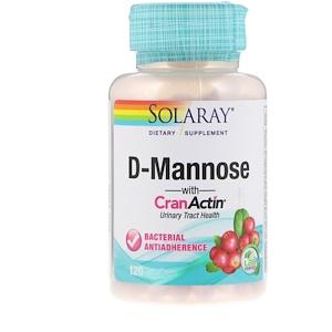 Solaray D-Mannose with CranActin 120 VegCaps