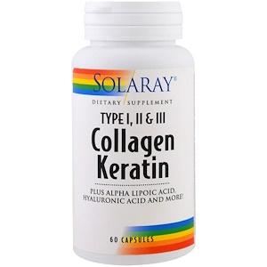 Solaray Collagen Keratin Type I II III 60 Capsules