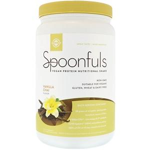 Solgar Spoonfull Vegan Protein Nutritional Shake Vanilla Chai 20.24 oz (574 g)